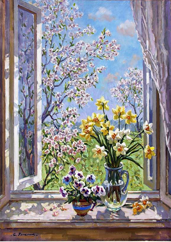 """Spring day. Open window"""
